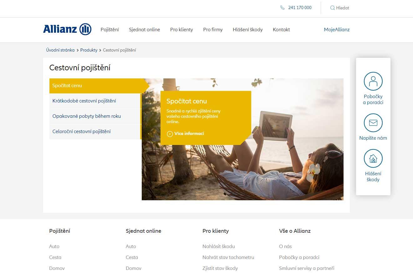 Recenze cestovního pojištění Allianz