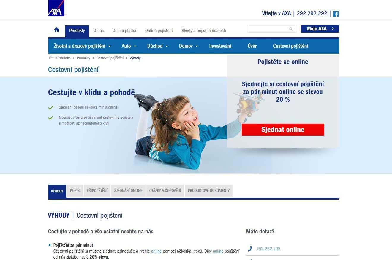 Recenze cestovního pojištění AXA