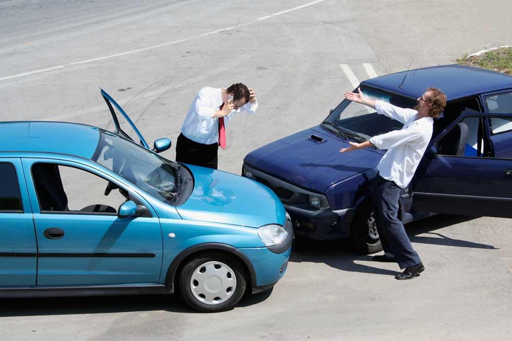 Dopravní nehoda dvou řidičů