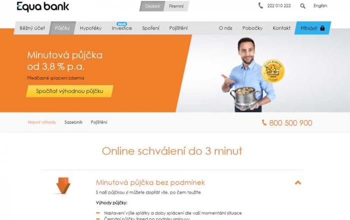 Recenze Equa bank Minutové půjčky