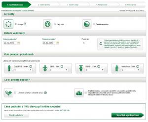 Kalkulačka cestovního pojištění Kooperativa