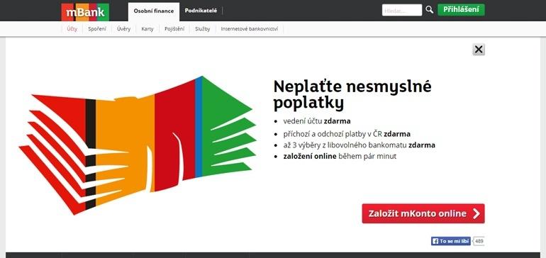 mKonto od mBank.cz