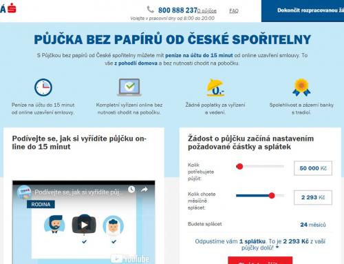 Půjčka bez papírů od České spořitelny
